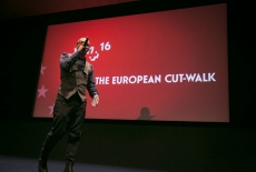 1. Nikolaj Nikitin welcomes the audience and the key note talkers to the first European Cut-Walk at Filmplus 2016