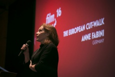 4. After the Italian contribution by Ilaria Fraioli, Anne Fabini from Germay talked about her vision of editing and film